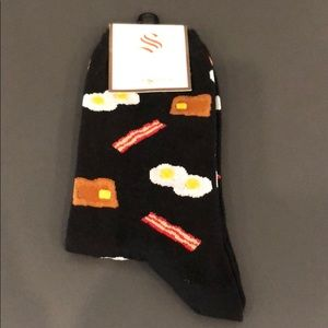 Bacon and Eggs and Toast Socks by Socksmith NWT